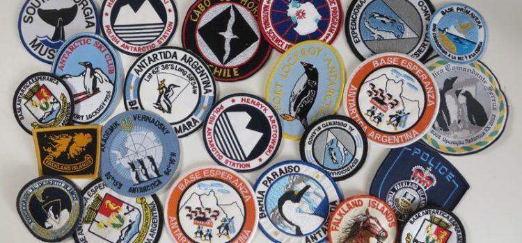 antarktis aufnäher forschungsstationen souvenirs