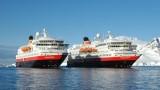 Hurtigruten Schiffe in der Antarktis